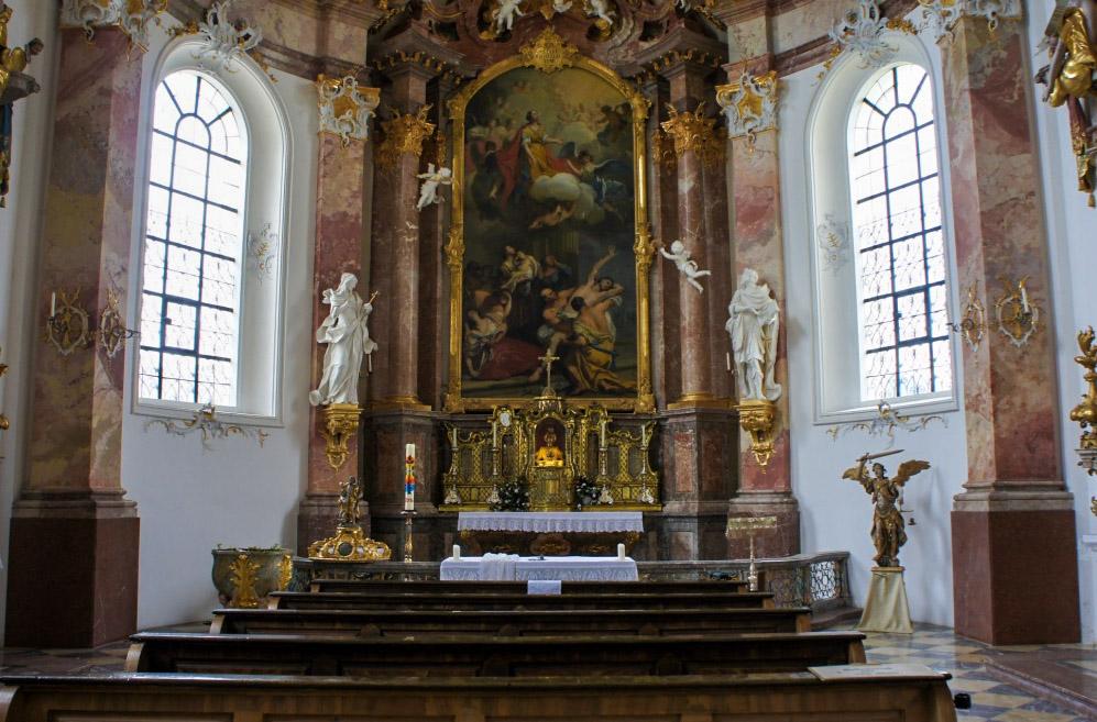Anastasiakapelle Kloster Benediktbeuern Kapelle Fresken